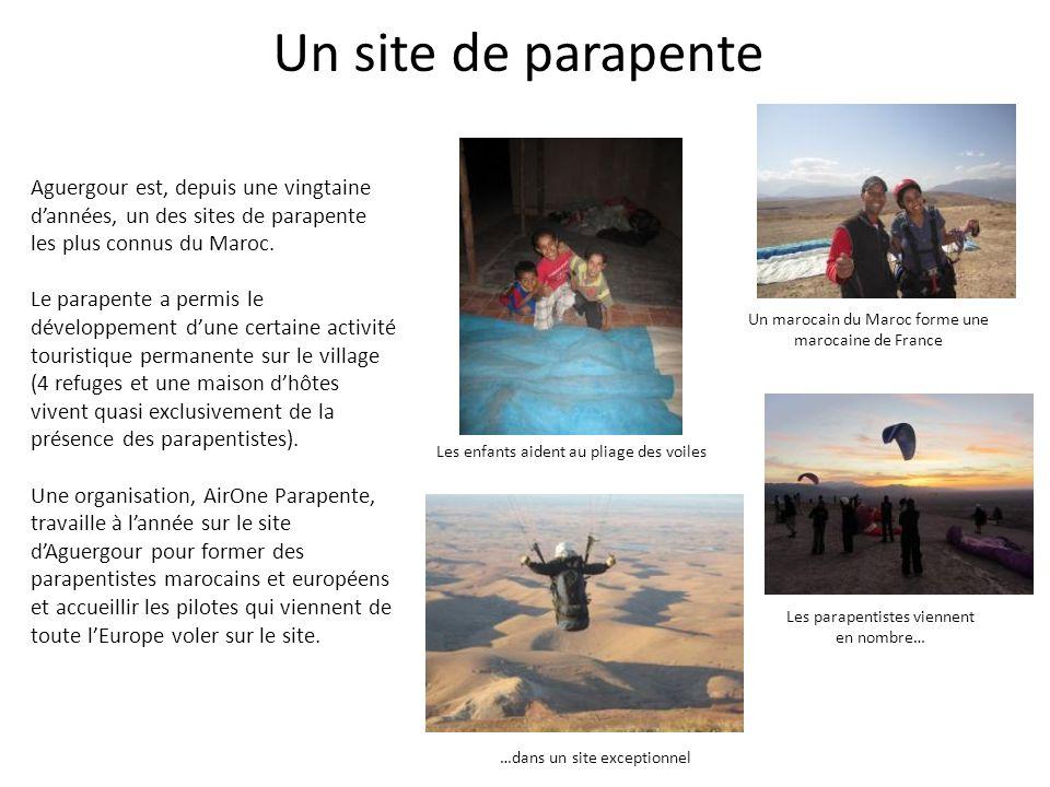 Un site de parapente Aguergour est, depuis une vingtaine d'années, un des sites de parapente les plus connus du Maroc.