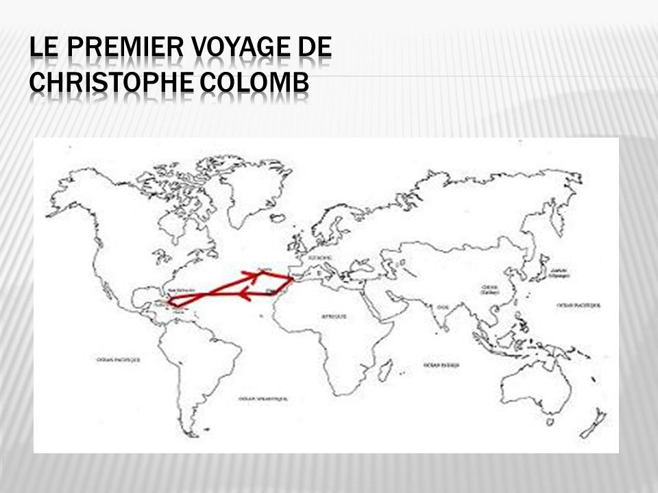 Le premier voyage de Christophe Colomb