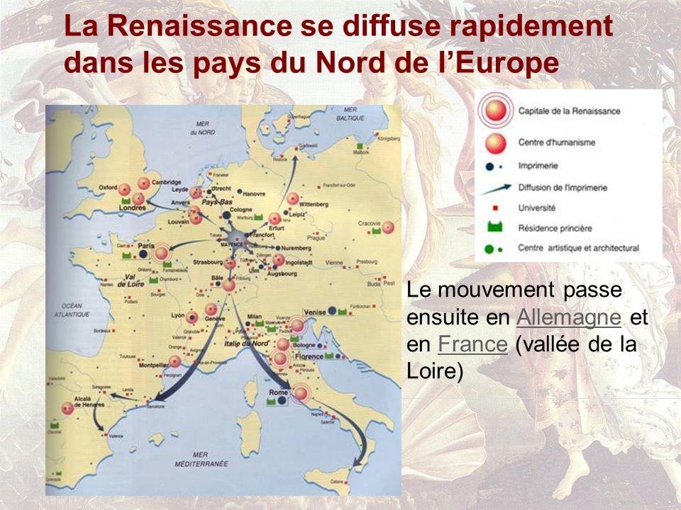 La Renaissance se diffuse rapidement dans les pays du Nord de l'Europe