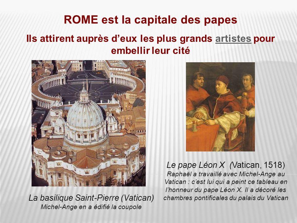 ROME est la capitale des papes