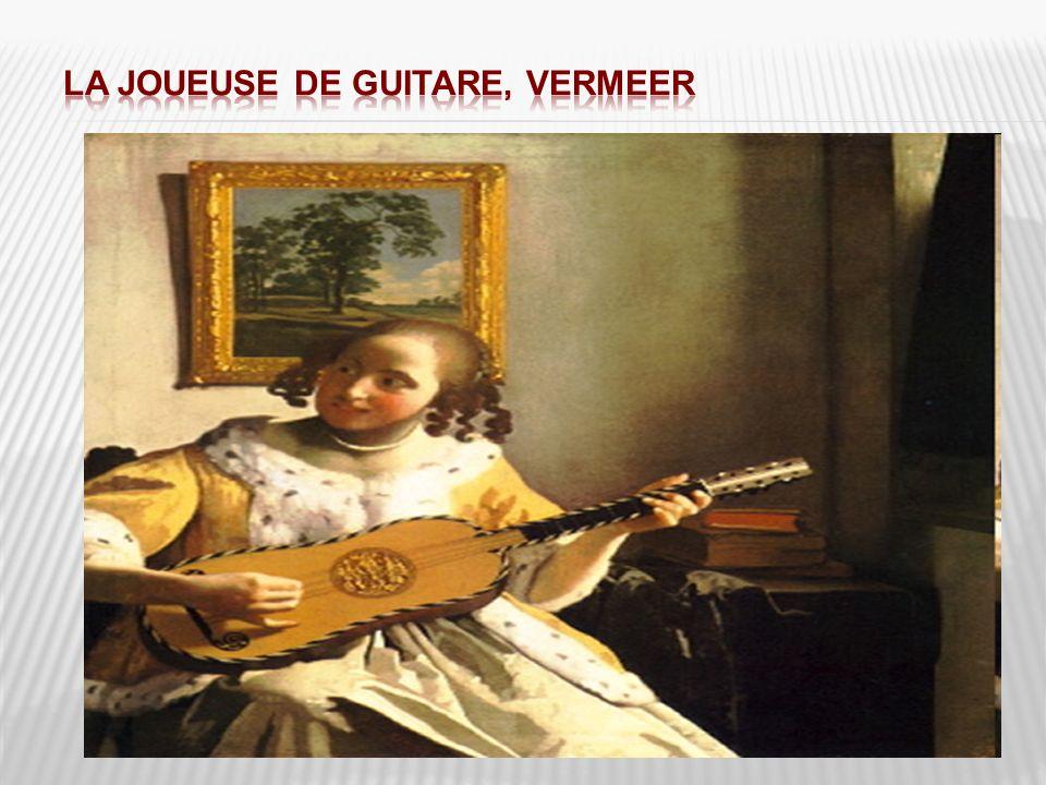 La joueuse de guitare, Vermeer