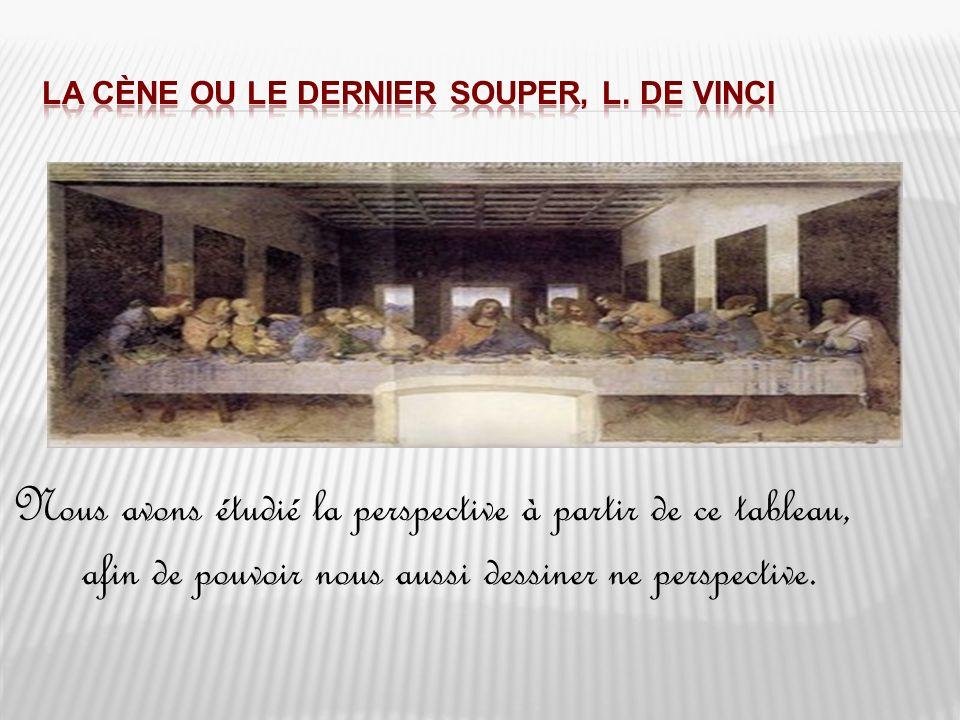 La Cène ou le dernier souper, L. de Vinci