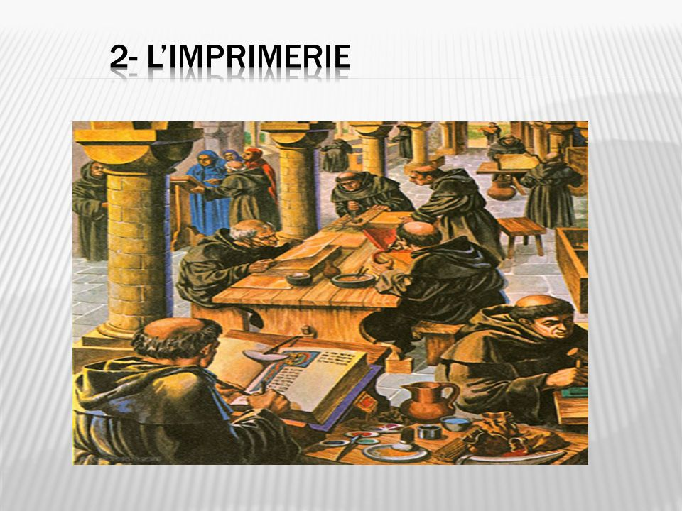 2- l'imprimerie