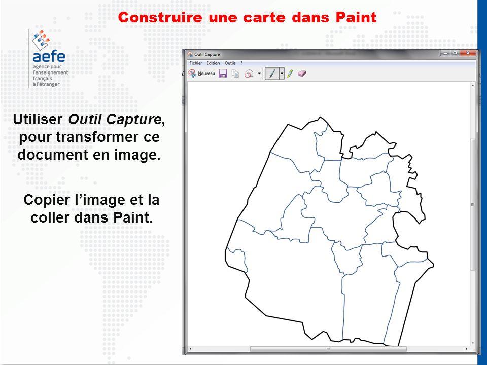 Construire une carte dans Paint