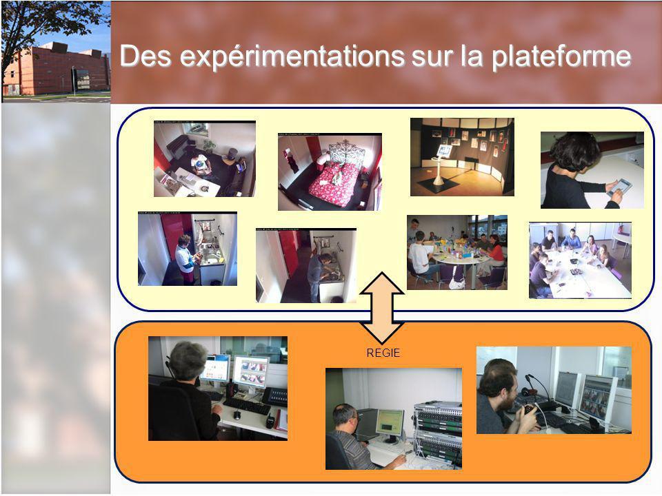 Des expérimentations sur la plateforme