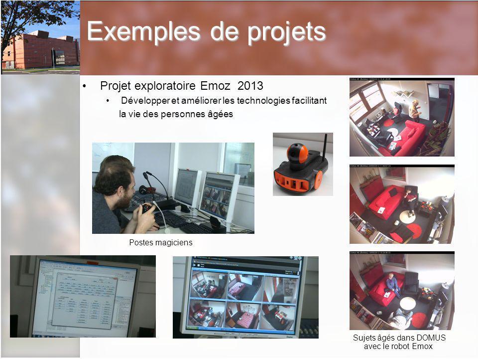 Exemples de projets Projet exploratoire Emoz 2013