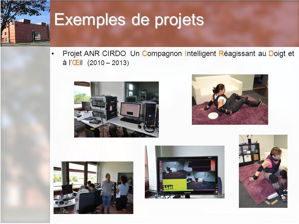 Exemples de projets Projet ANR CIRDO Un Compagnon Intelligent Réagissant au Doigt et à l'Œil (2010 – 2013)