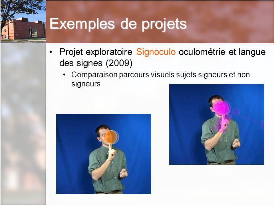 Exemples de projets Projet exploratoire Signoculo oculométrie et langue des signes (2009)