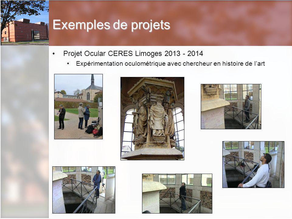 Exemples de projets Projet Ocular CERES Limoges 2013 - 2014