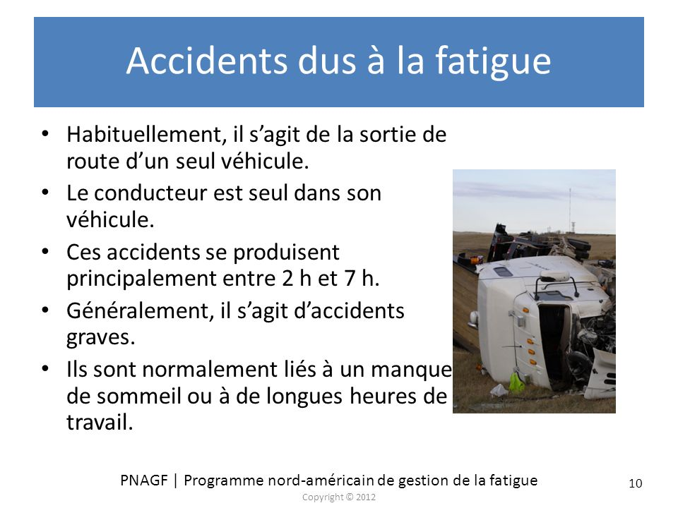 Accidents dus à la fatigue