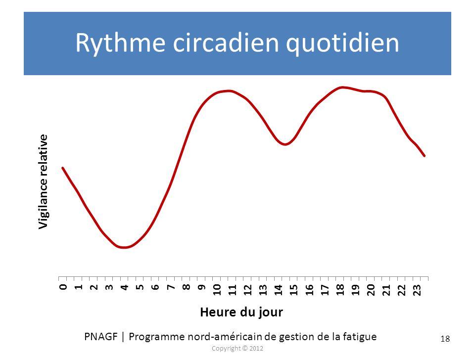Rythme circadien quotidien