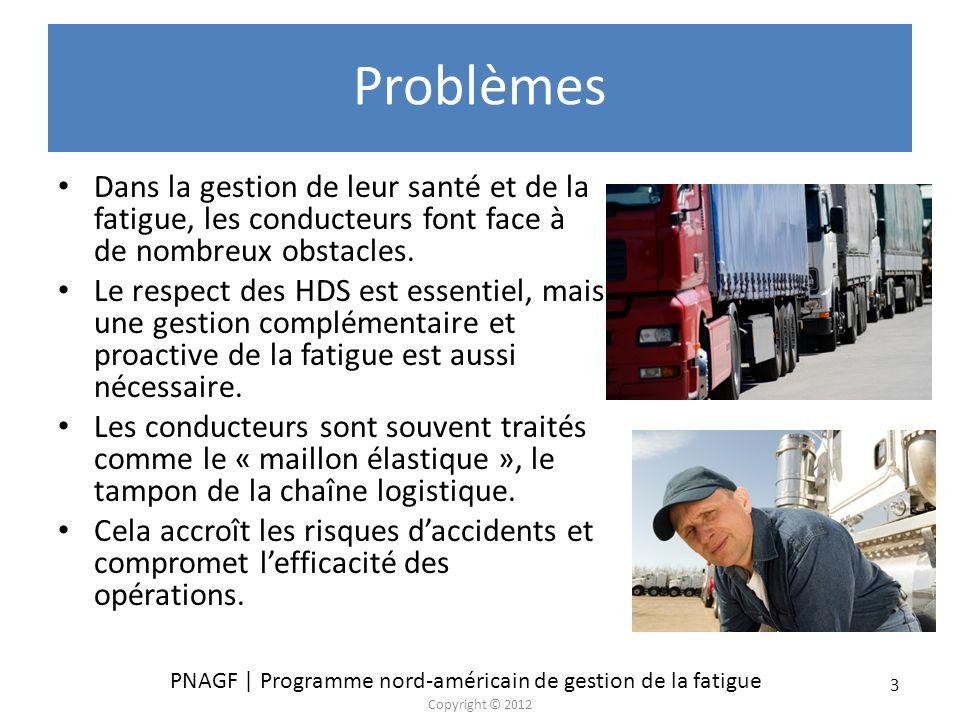 Problèmes Dans la gestion de leur santé et de la fatigue, les conducteurs font face à de nombreux obstacles.