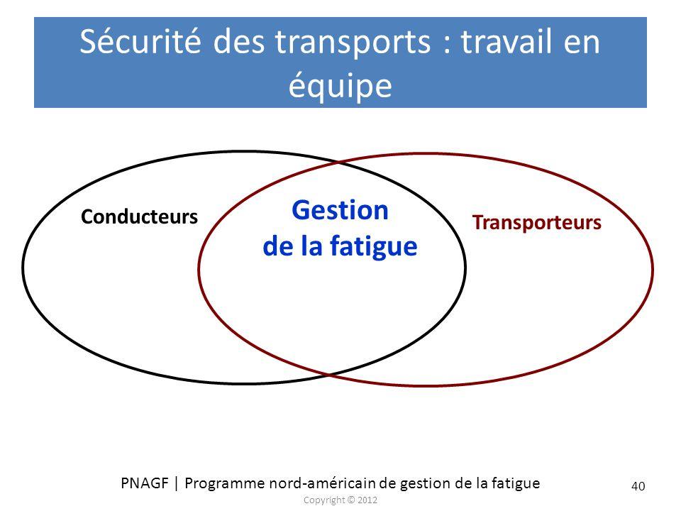 Sécurité des transports : travail en équipe
