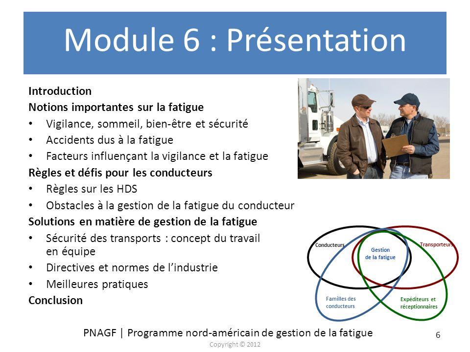 Module 6 : Présentation Introduction