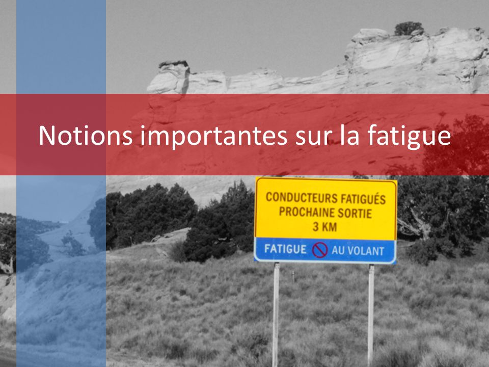 Notions importantes sur la fatigue