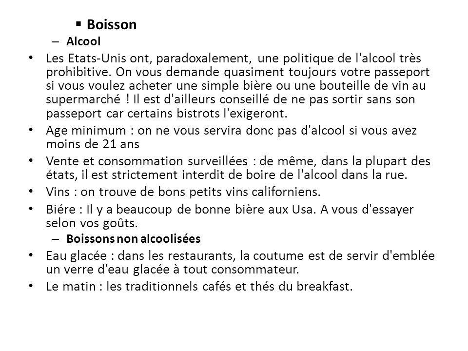 Boisson Alcool.