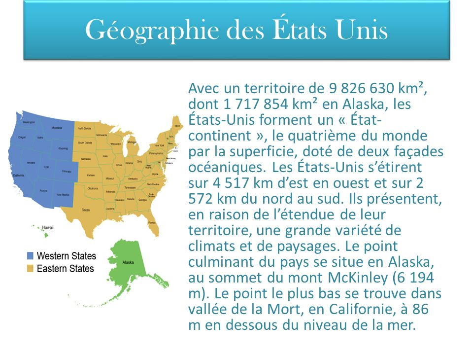 Géographie des États Unis