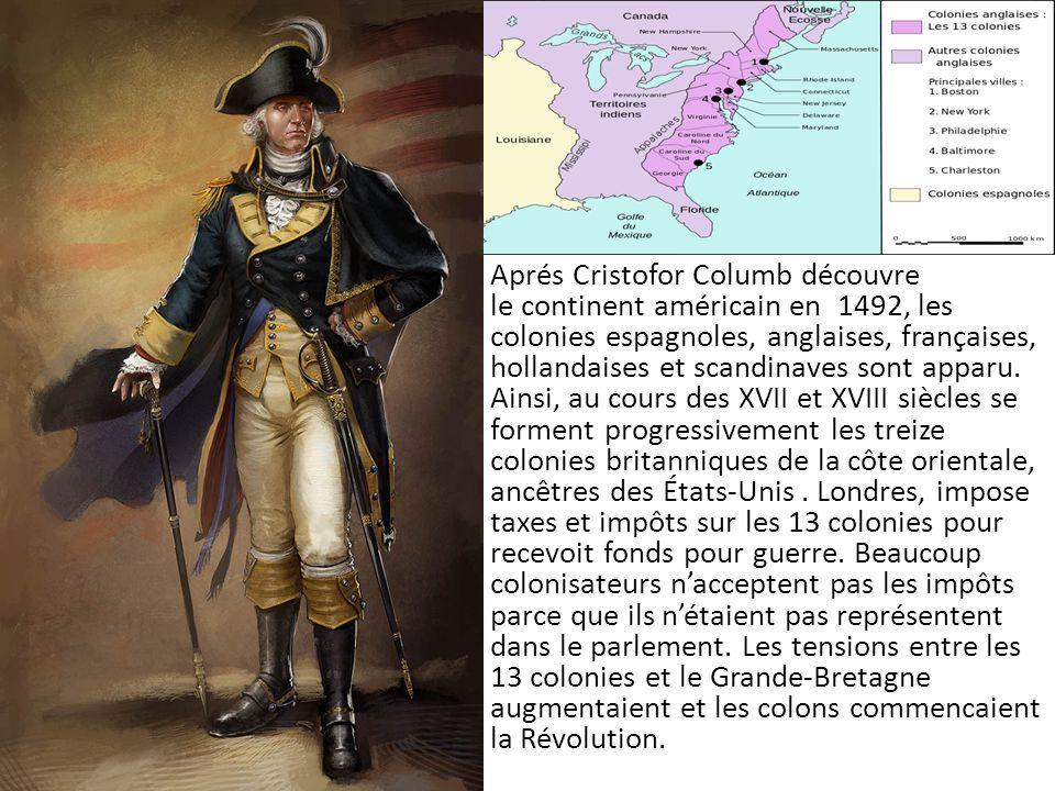 Aprés Cristofor Columb découvre le continent américain en 1492, les colonies espagnoles, anglaises, françaises, hollandaises et scandinaves sont apparu.