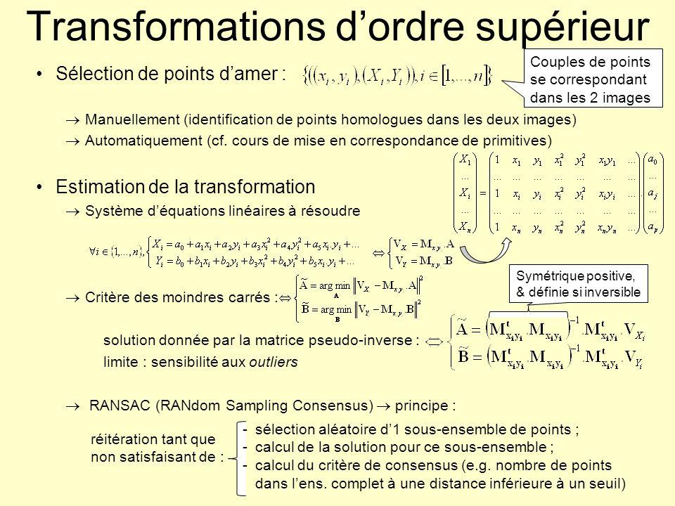 Transformations d'ordre supérieur