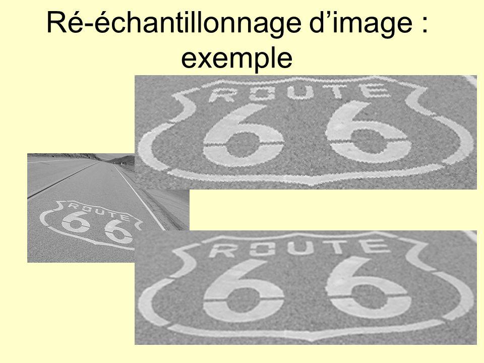 Ré-échantillonnage d'image : exemple