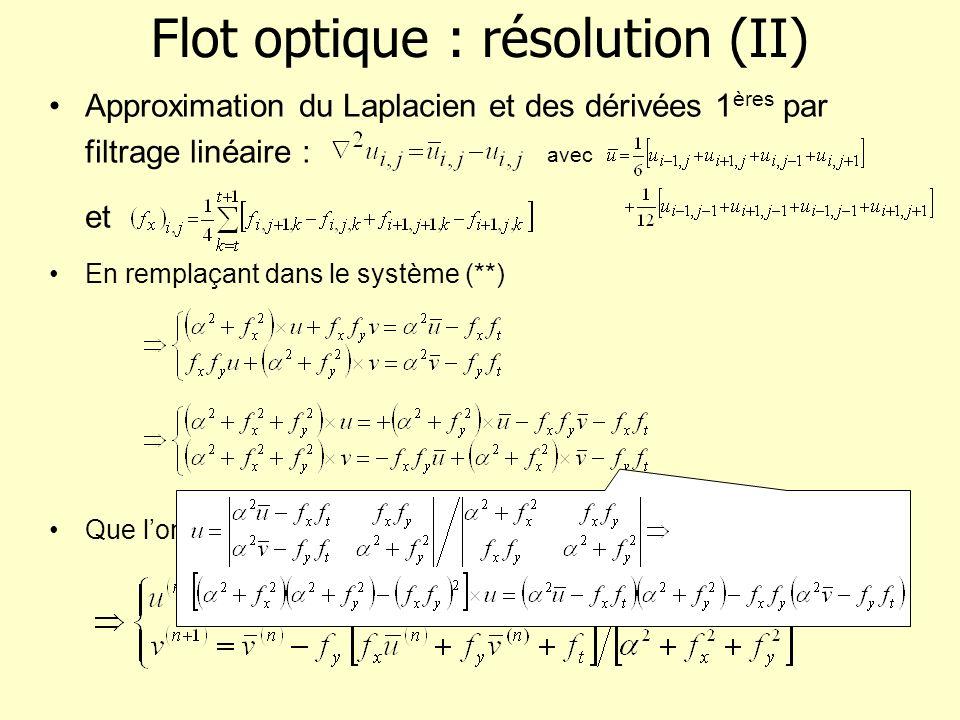 Flot optique : résolution (II)