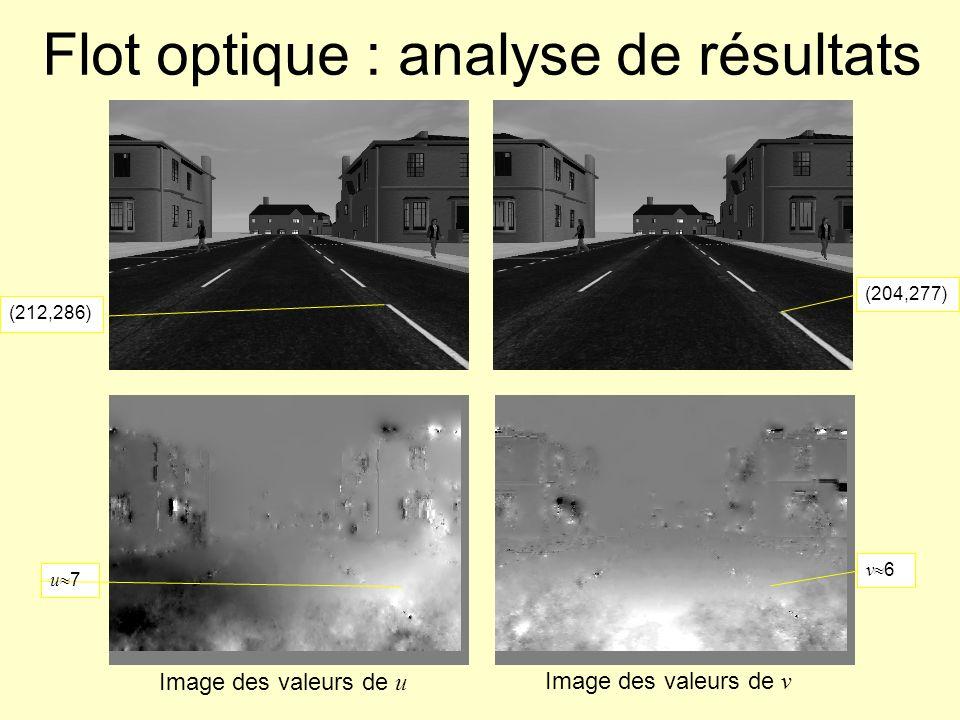 Flot optique : analyse de résultats