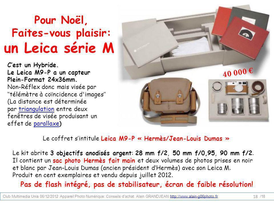 Le coffret s'intitule Leica M9-P « Hermès/Jean-Louis Dumas »