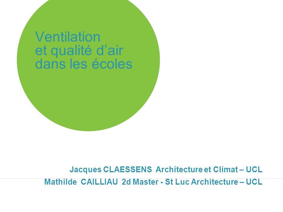 Ventilation et qualité d'air dans les écoles