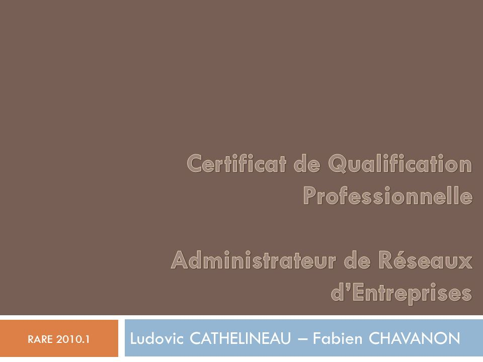 Ludovic CATHELINEAU – Fabien CHAVANON