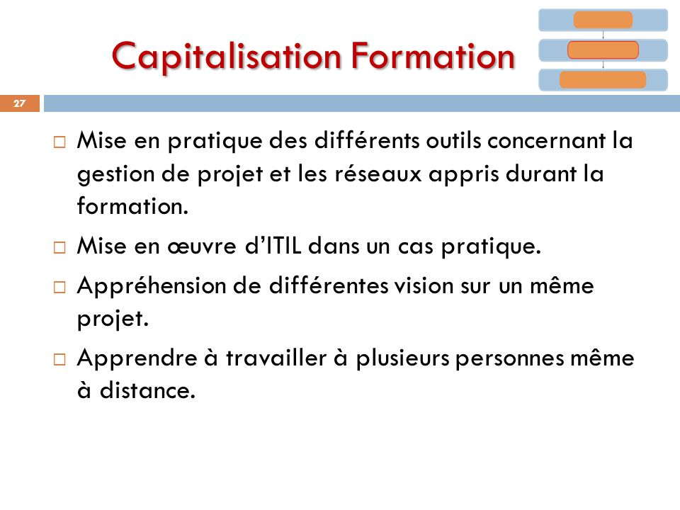 Capitalisation Formation