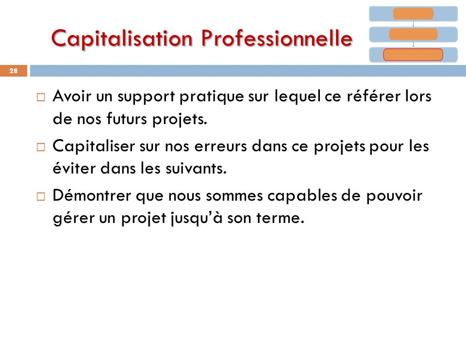 Capitalisation Professionnelle