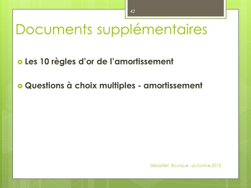 Documents supplémentaires