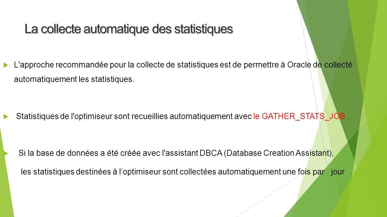 La collecte automatique des statistiques