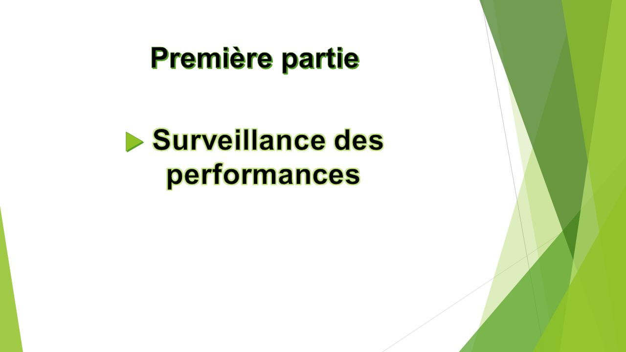Surveillance des performances