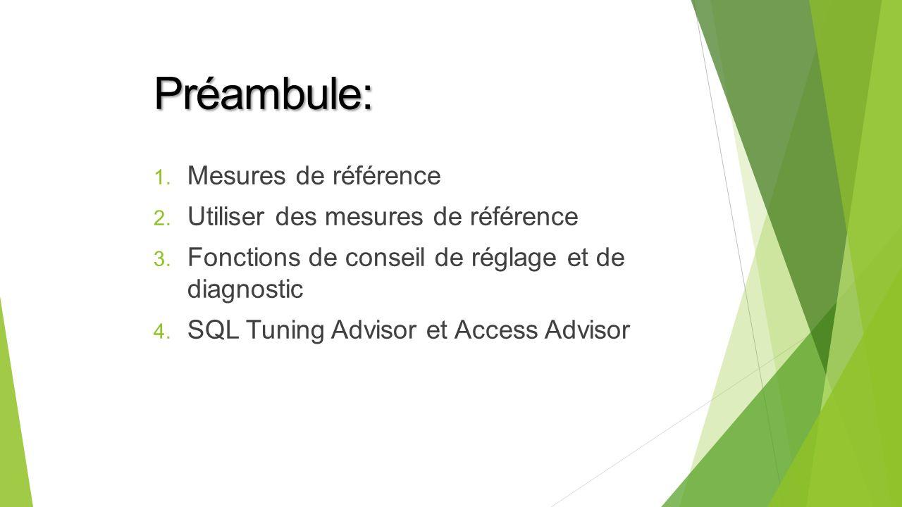 Préambule: Mesures de référence Utiliser des mesures de référence