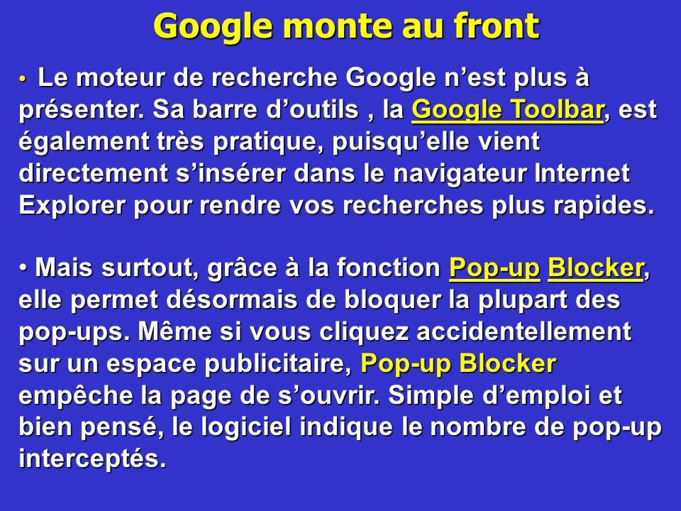 Google monte au front