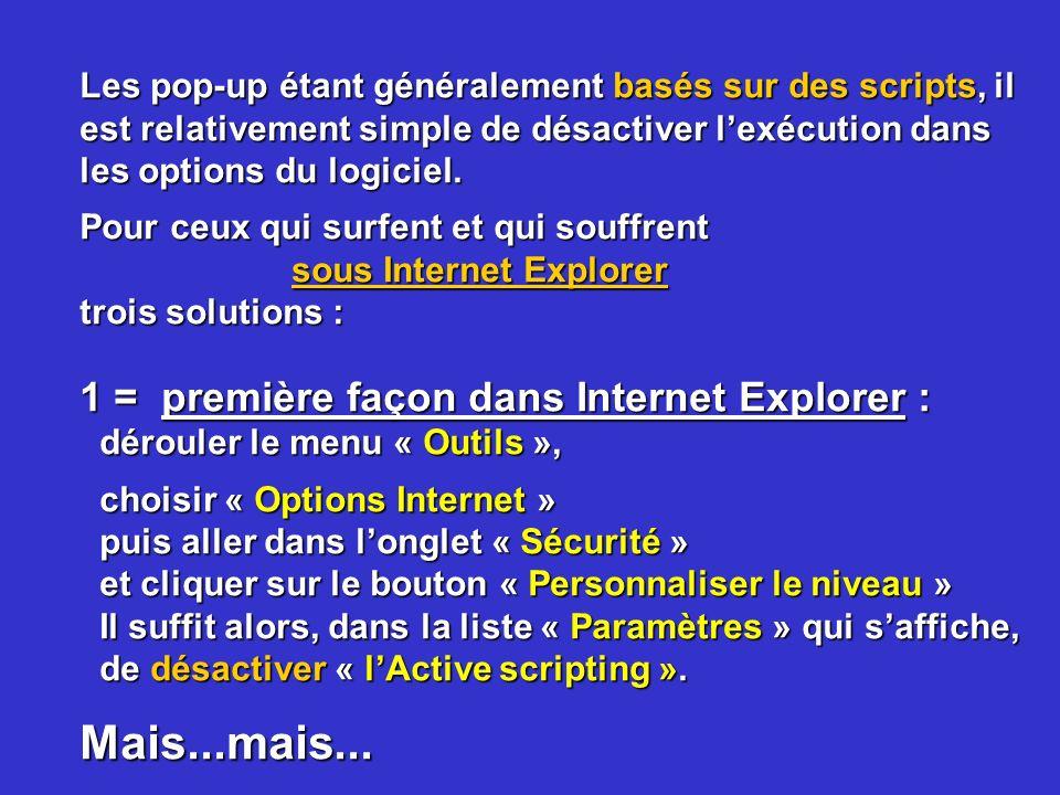 Mais...mais... 1 = première façon dans Internet Explorer :