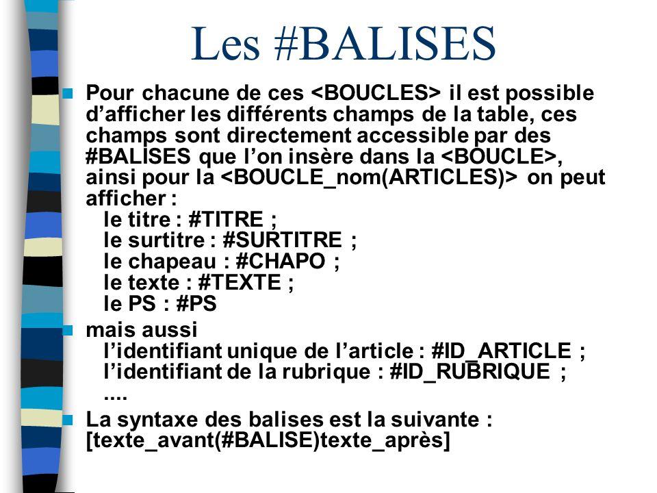 Les #BALISES