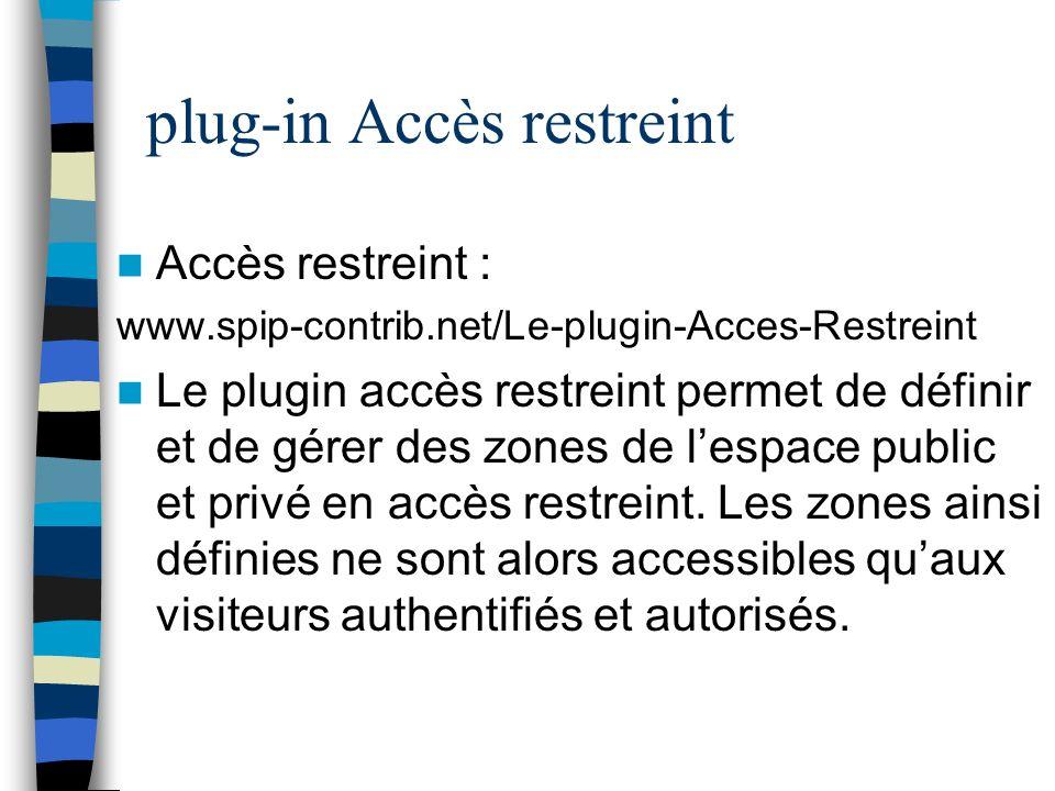 plug-in Accès restreint