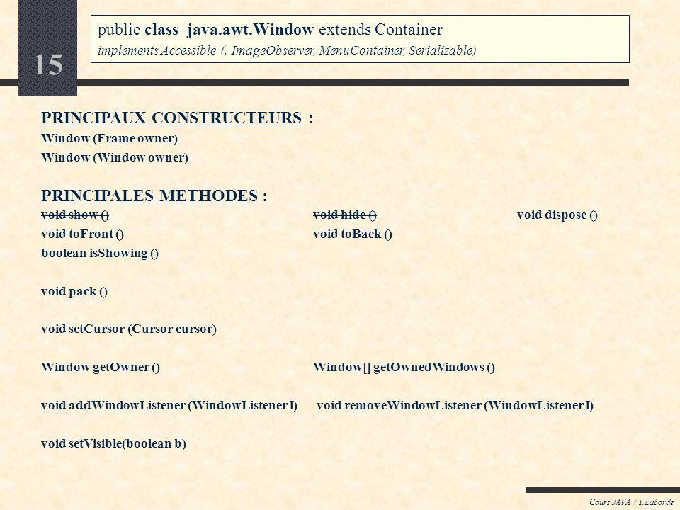 public class java.awt.Window extends Container