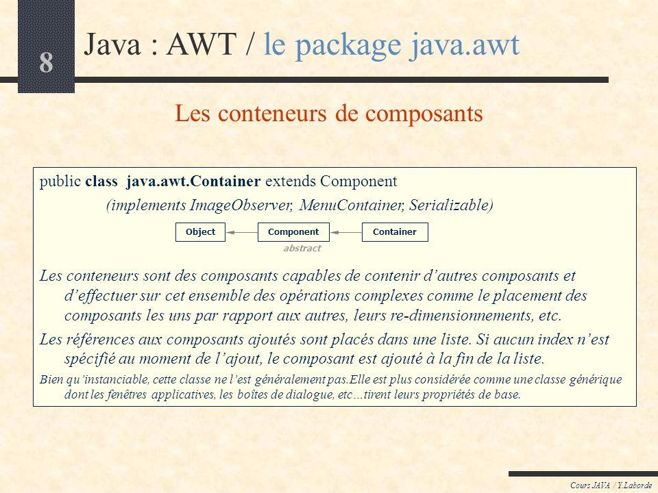 Les conteneurs de composants