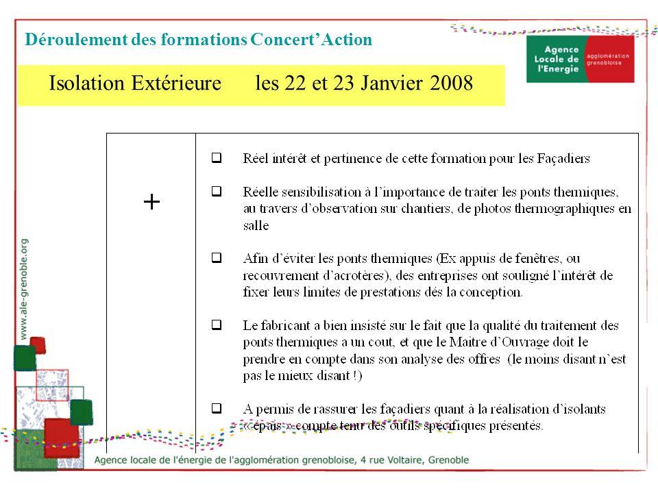Isolation Extérieure les 22 et 23 Janvier 2008