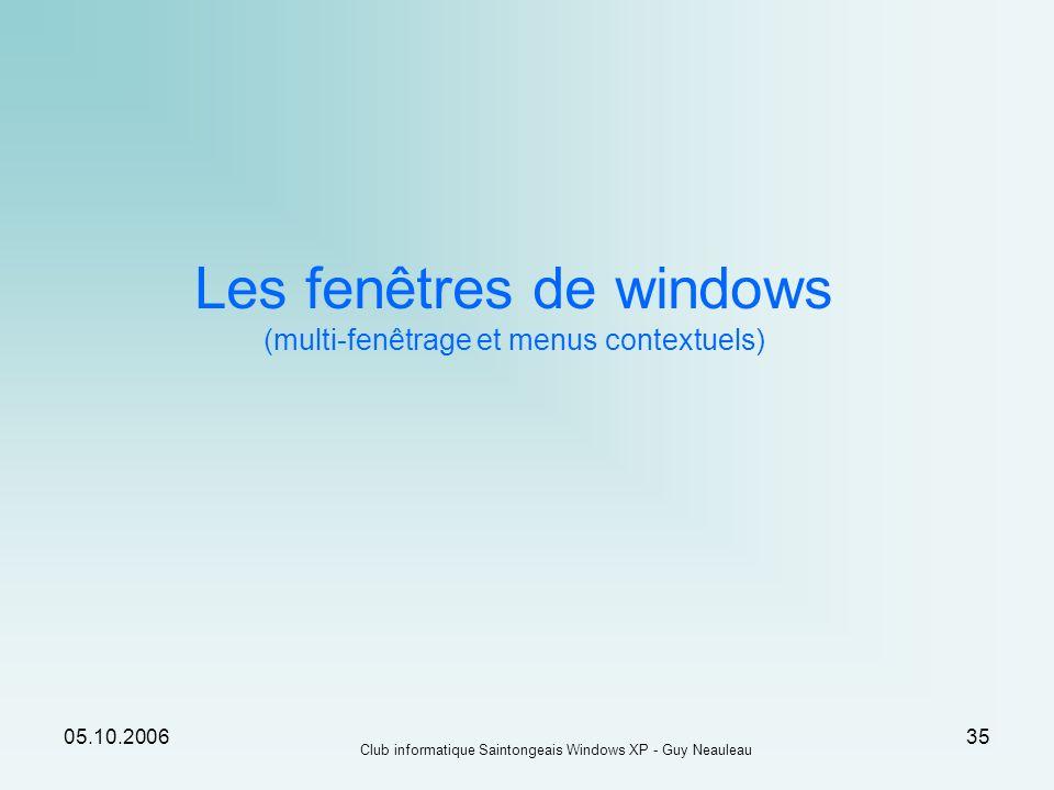 Les fenêtres de windows