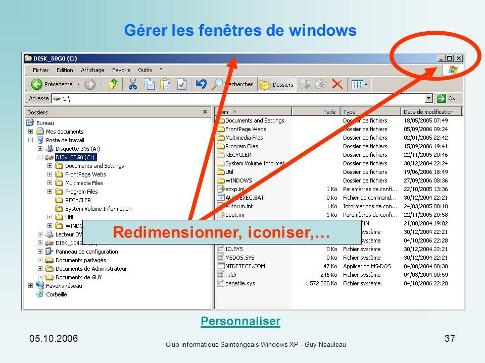 Gérer les fenêtres de windows Redimensionner, iconiser,…