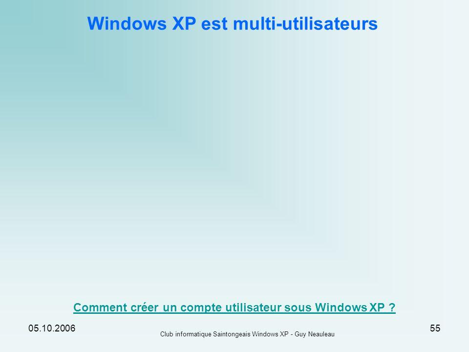 Windows XP est multi-utilisateurs