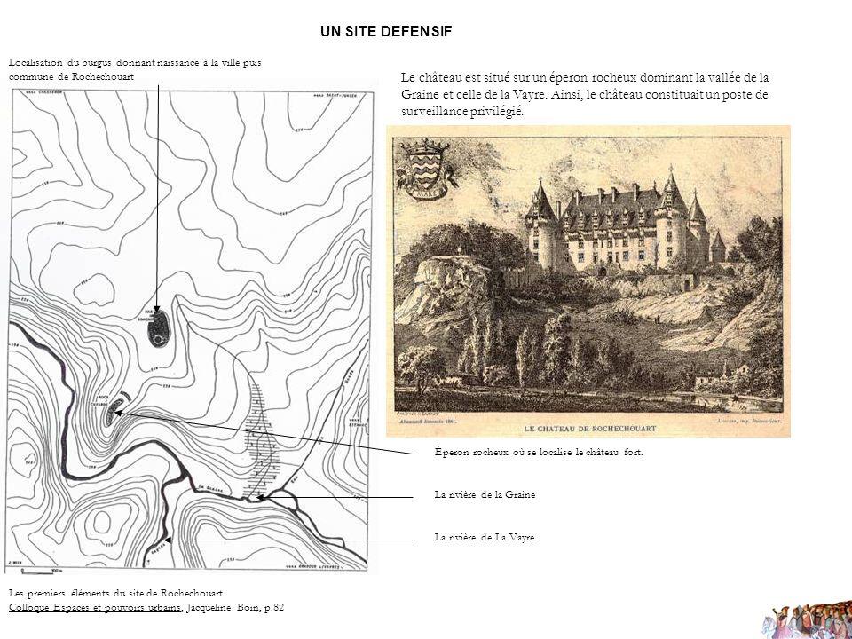 UN SITE DEFENSIF Localisation du burgus donnant naissance à la ville puis commune de Rochechouart.
