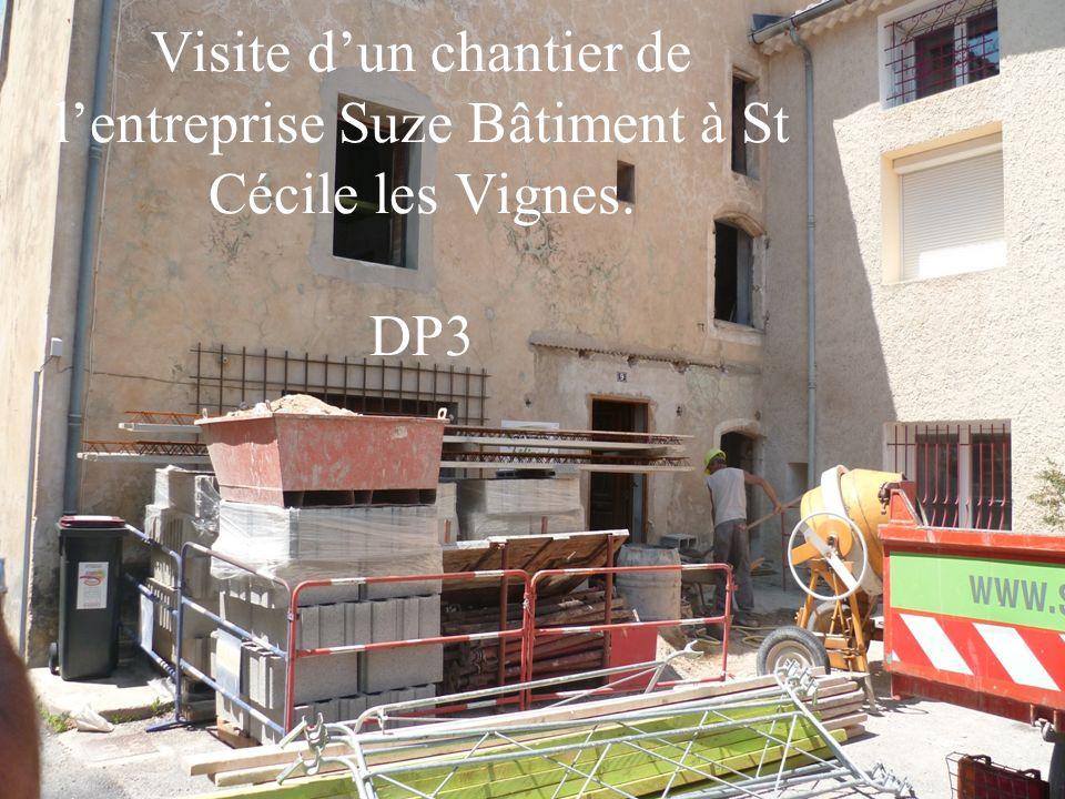Visite d'un chantier de l'entreprise Suze Bâtiment à St Cécile les Vignes. DP3