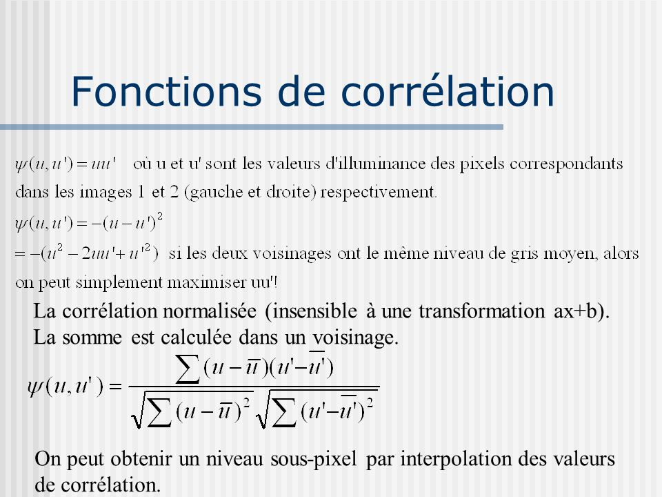 Fonctions de corrélation