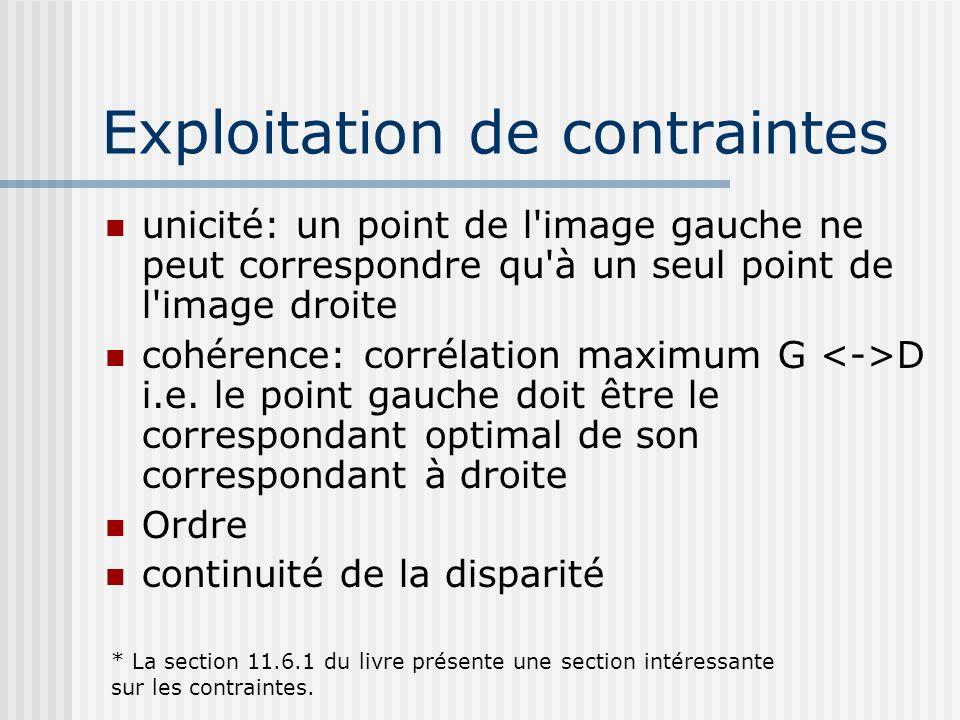 Exploitation de contraintes