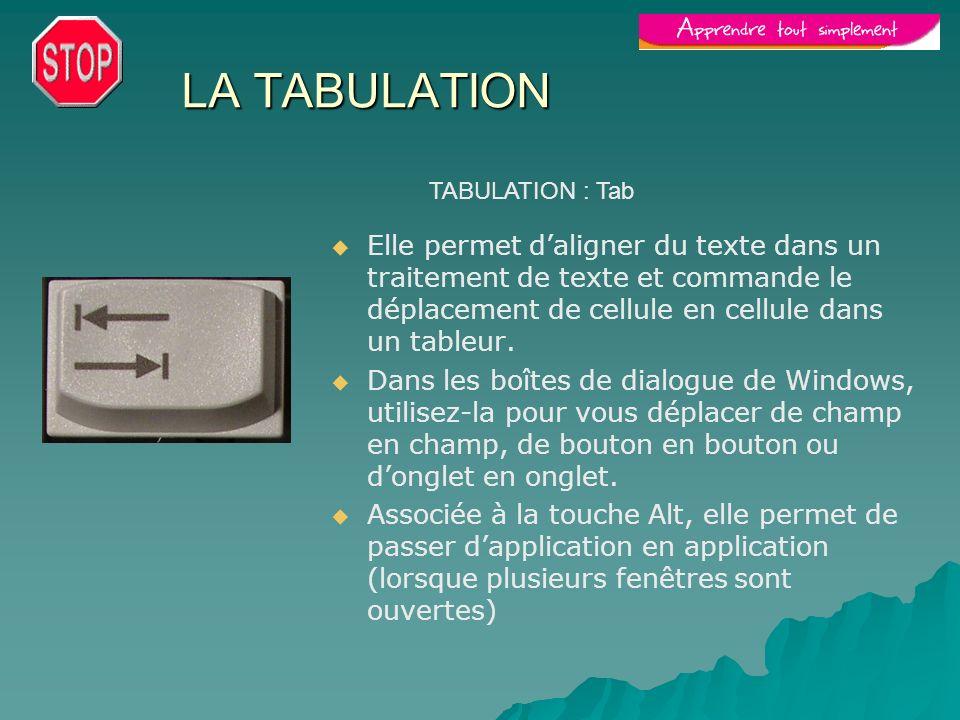 LA TABULATION TABULATION : Tab.